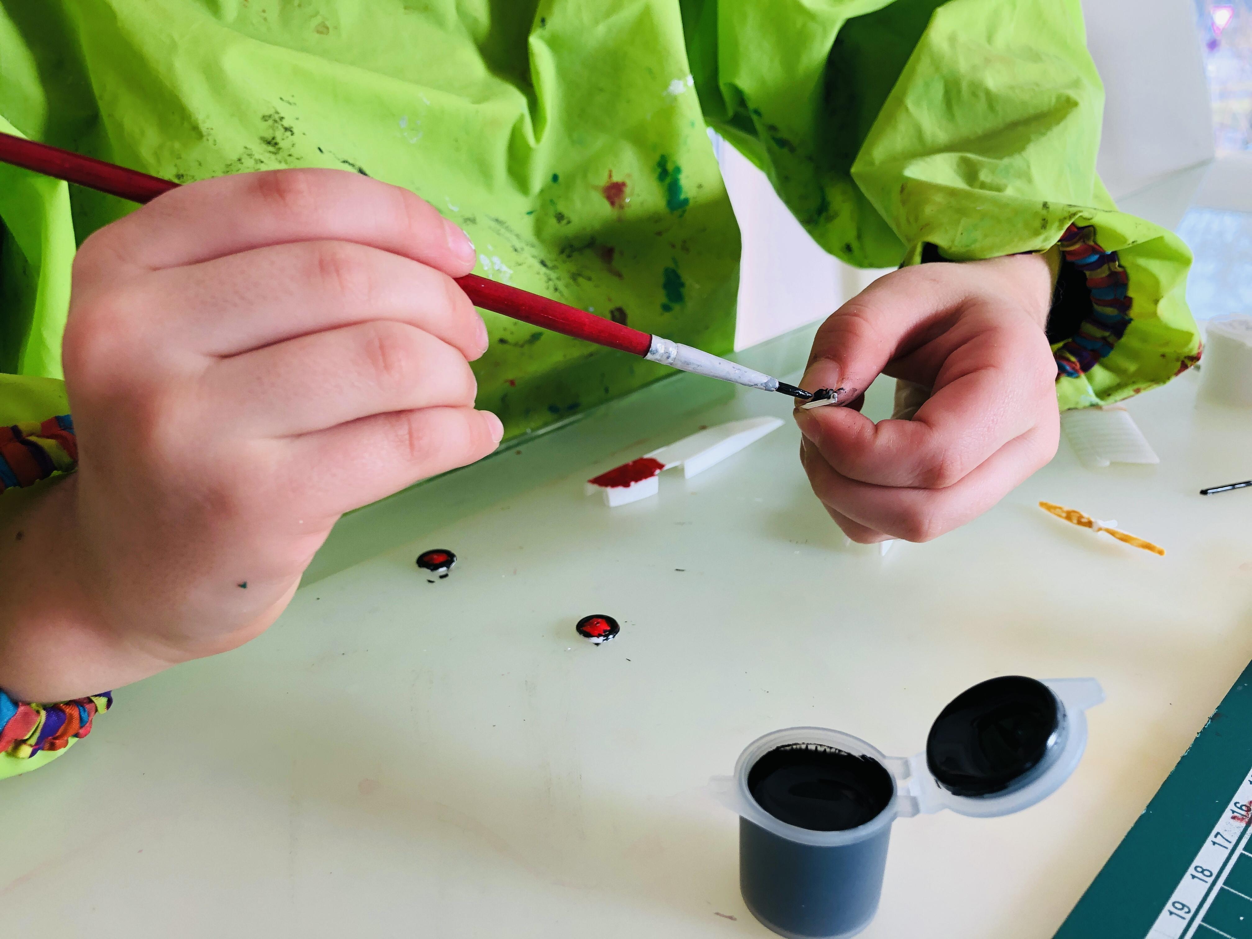 kid painting revell models