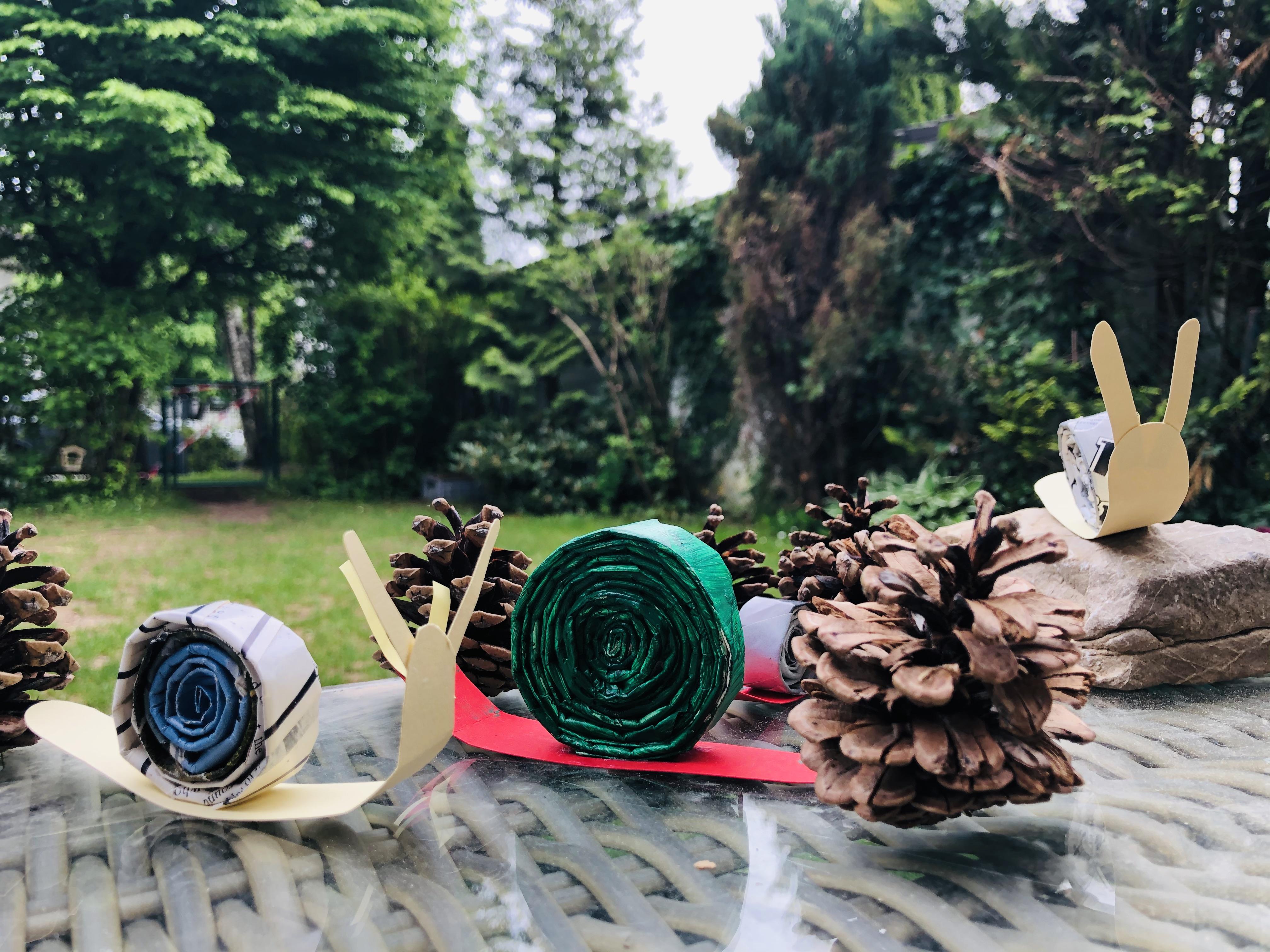 DIY snail toys