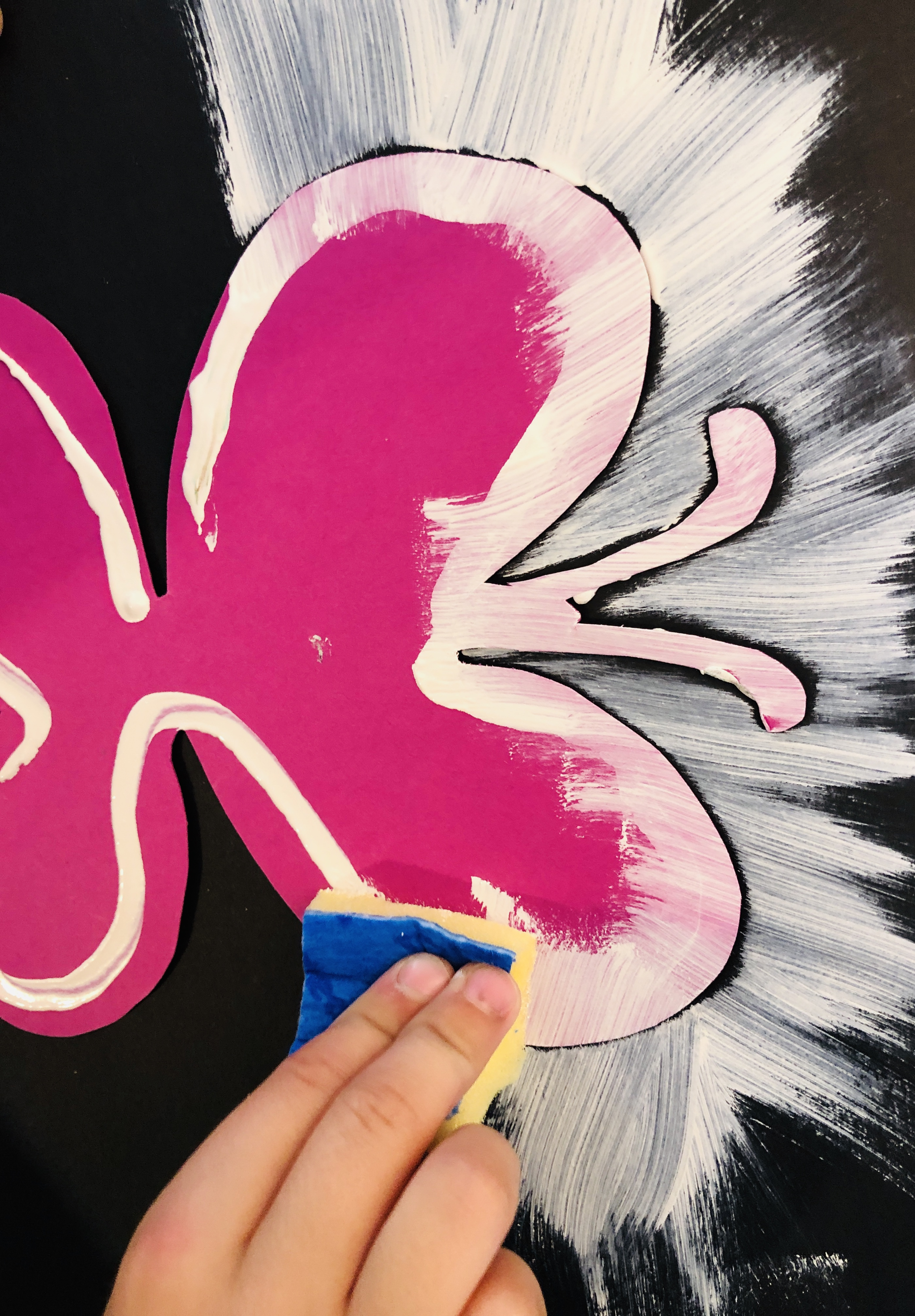 painting white bbutterfly