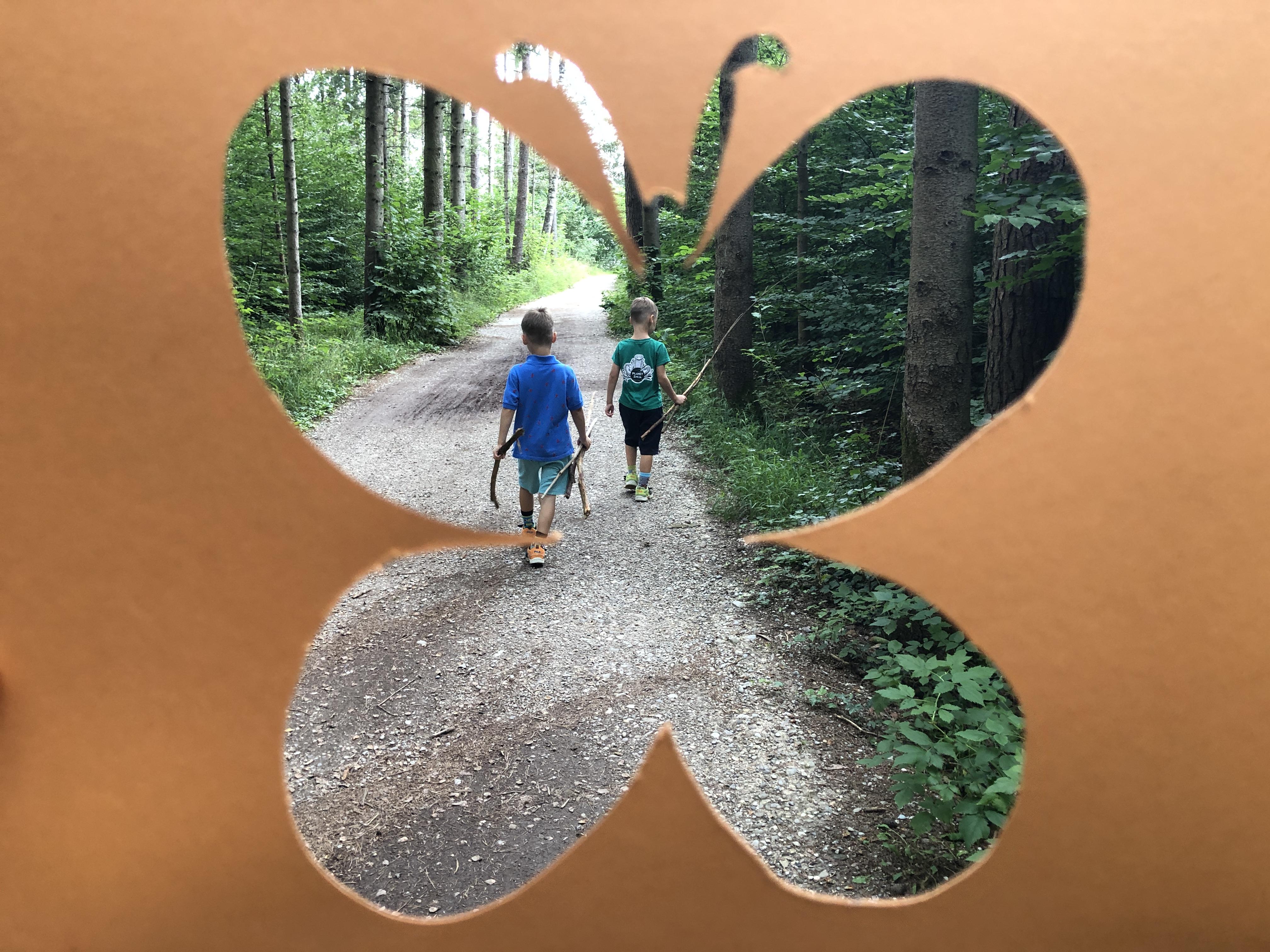 kids in a butterfly