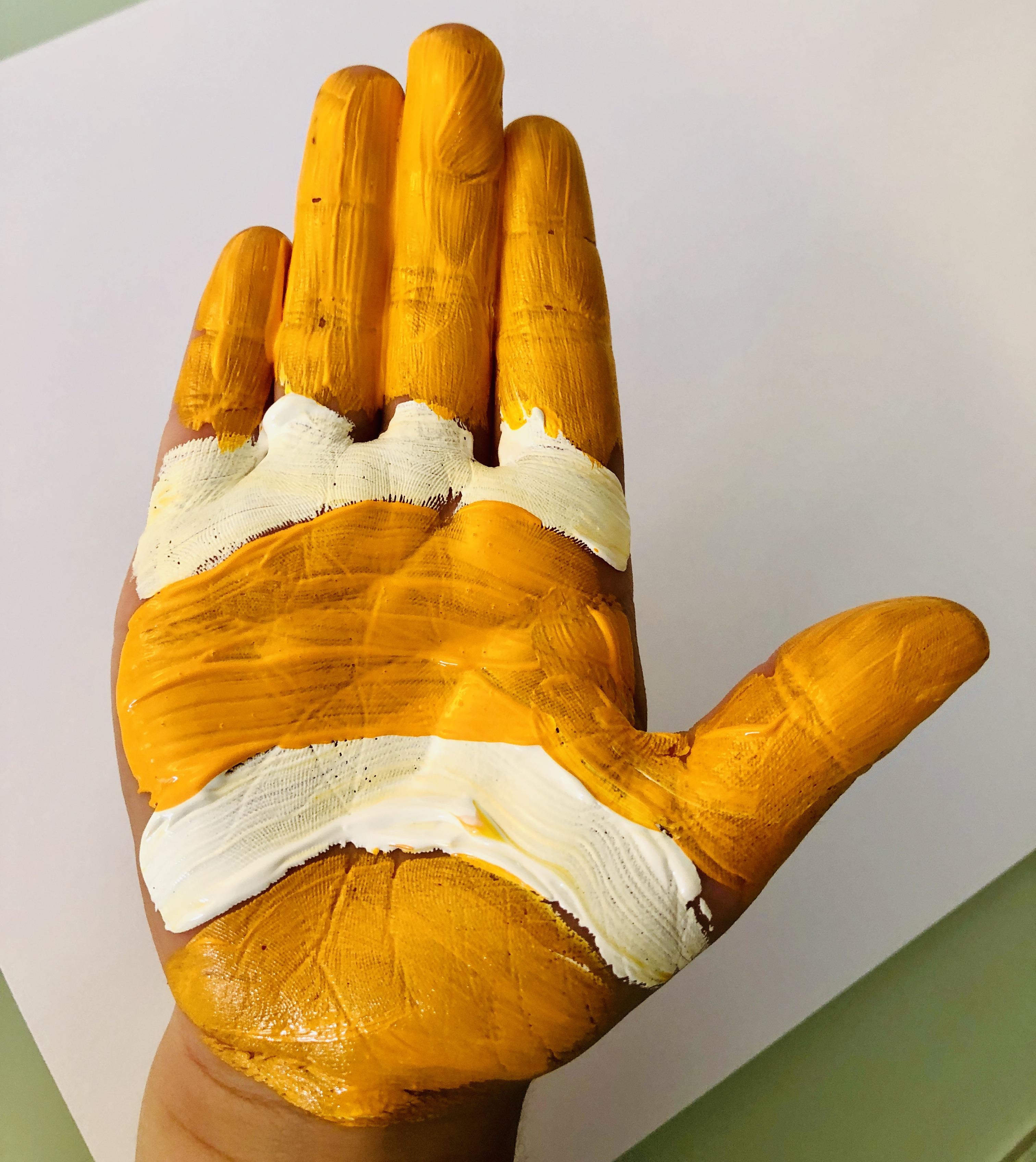 hand painted like a clownfish