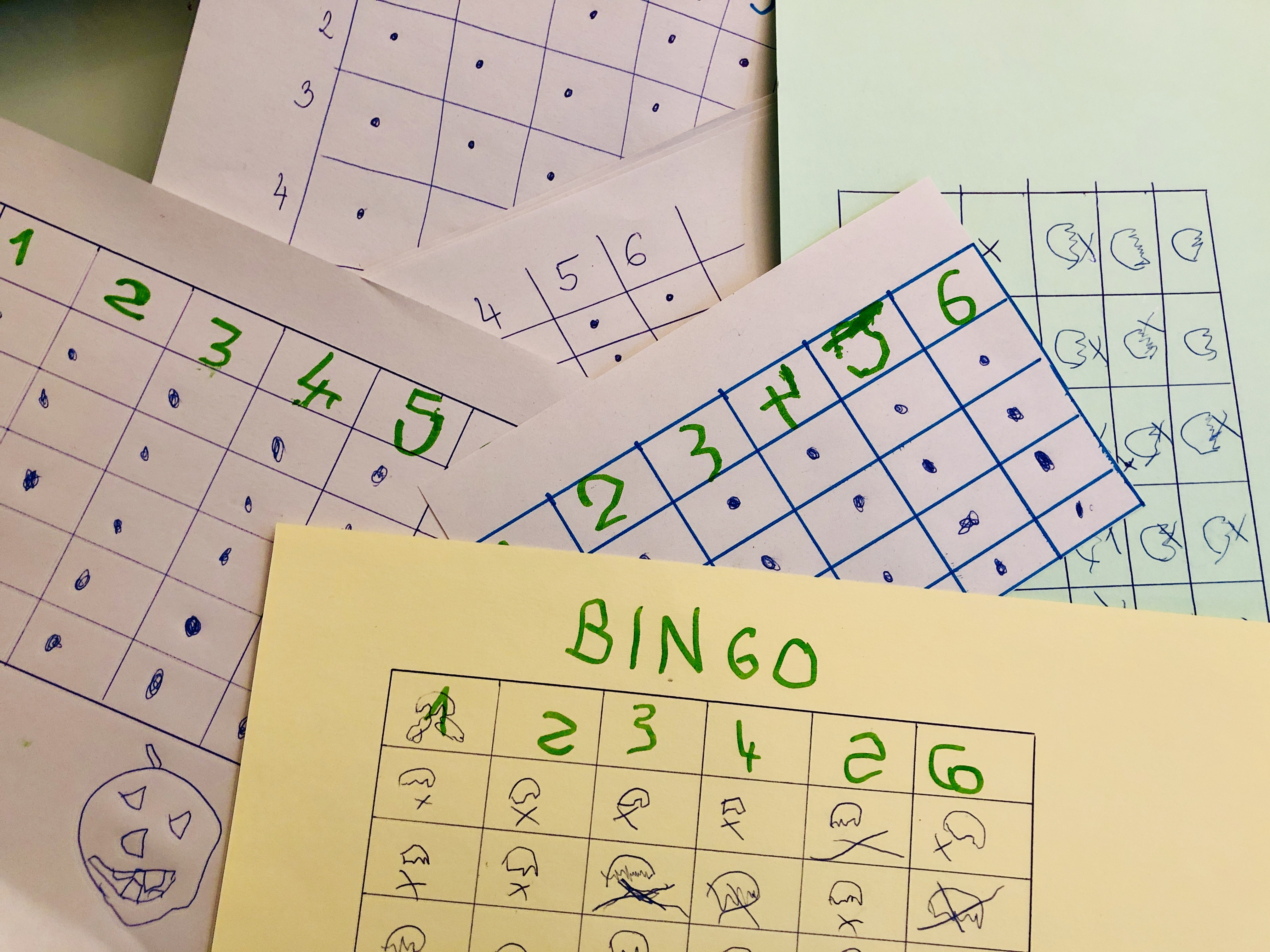 many numbers bingo cards