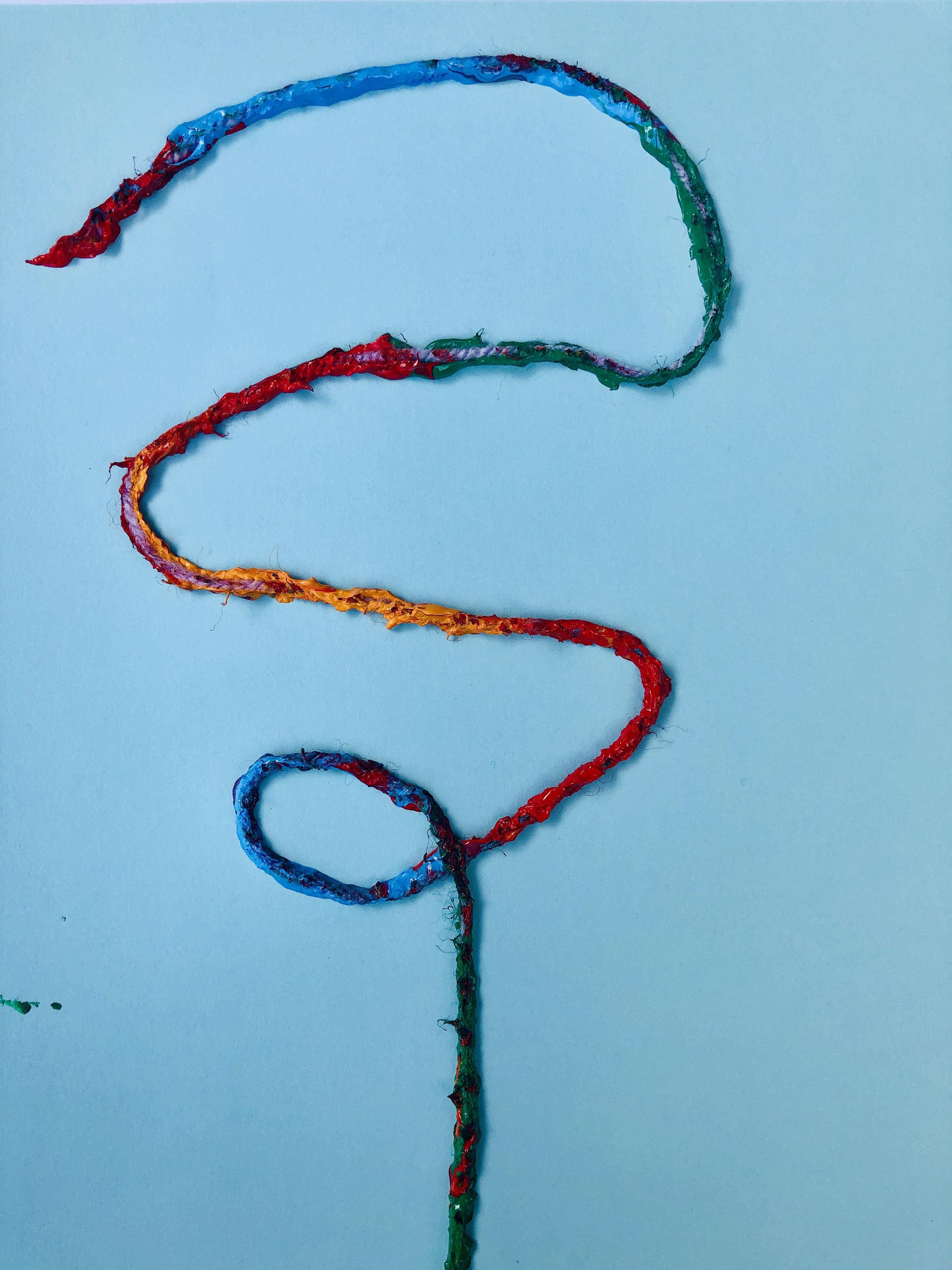 Arranging string for flower art