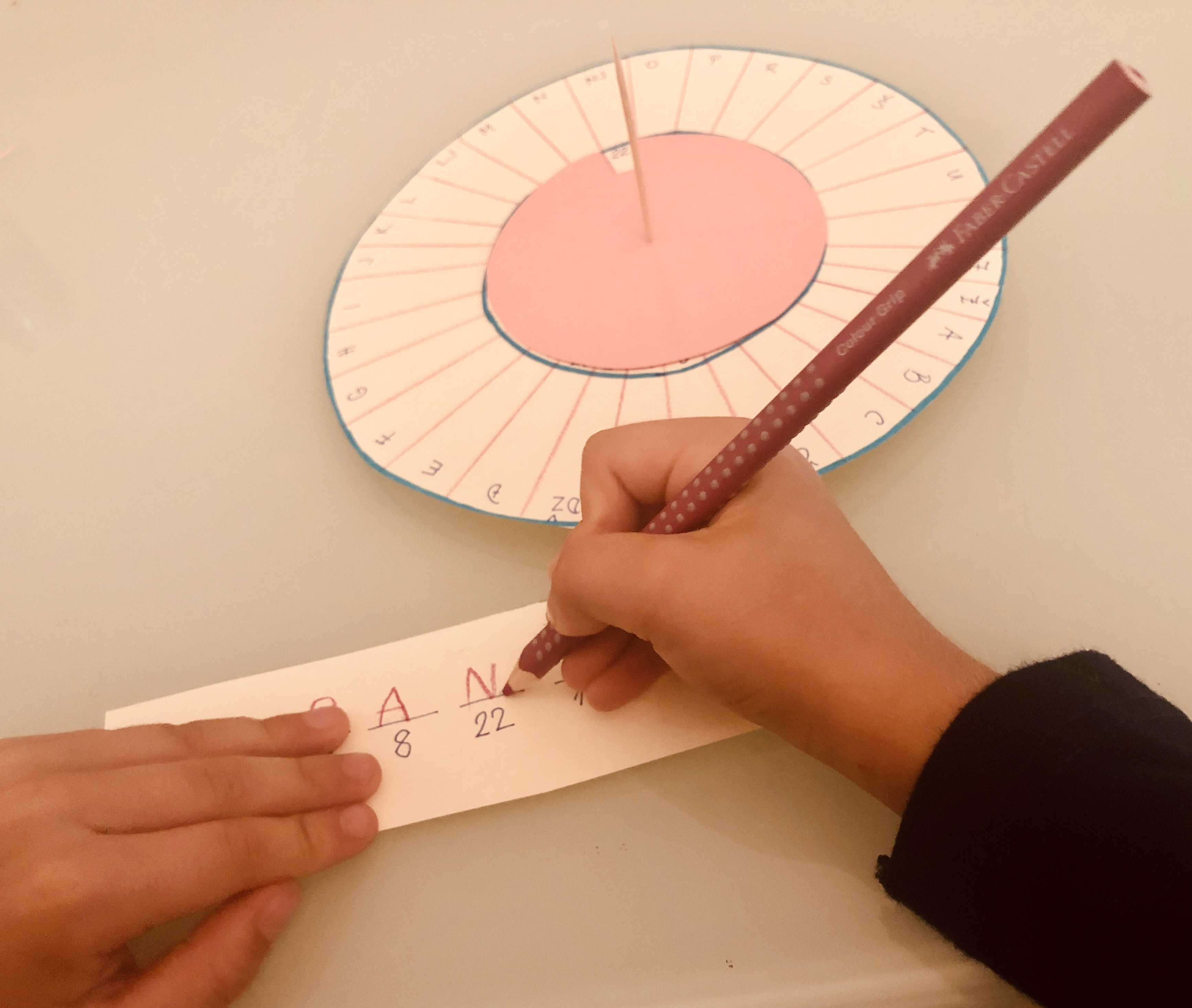 kid writing a secret message
