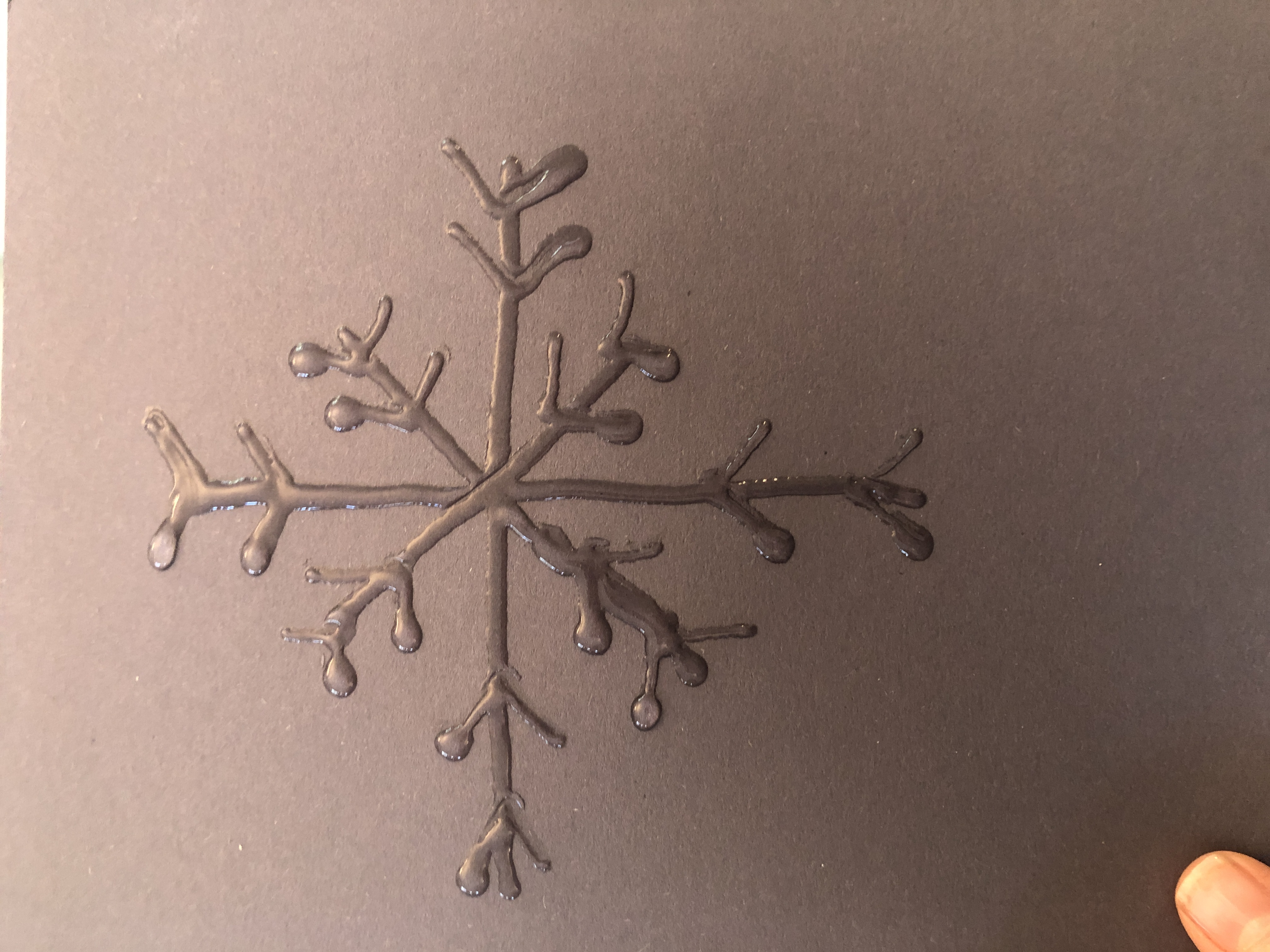 glue shaped snowflake