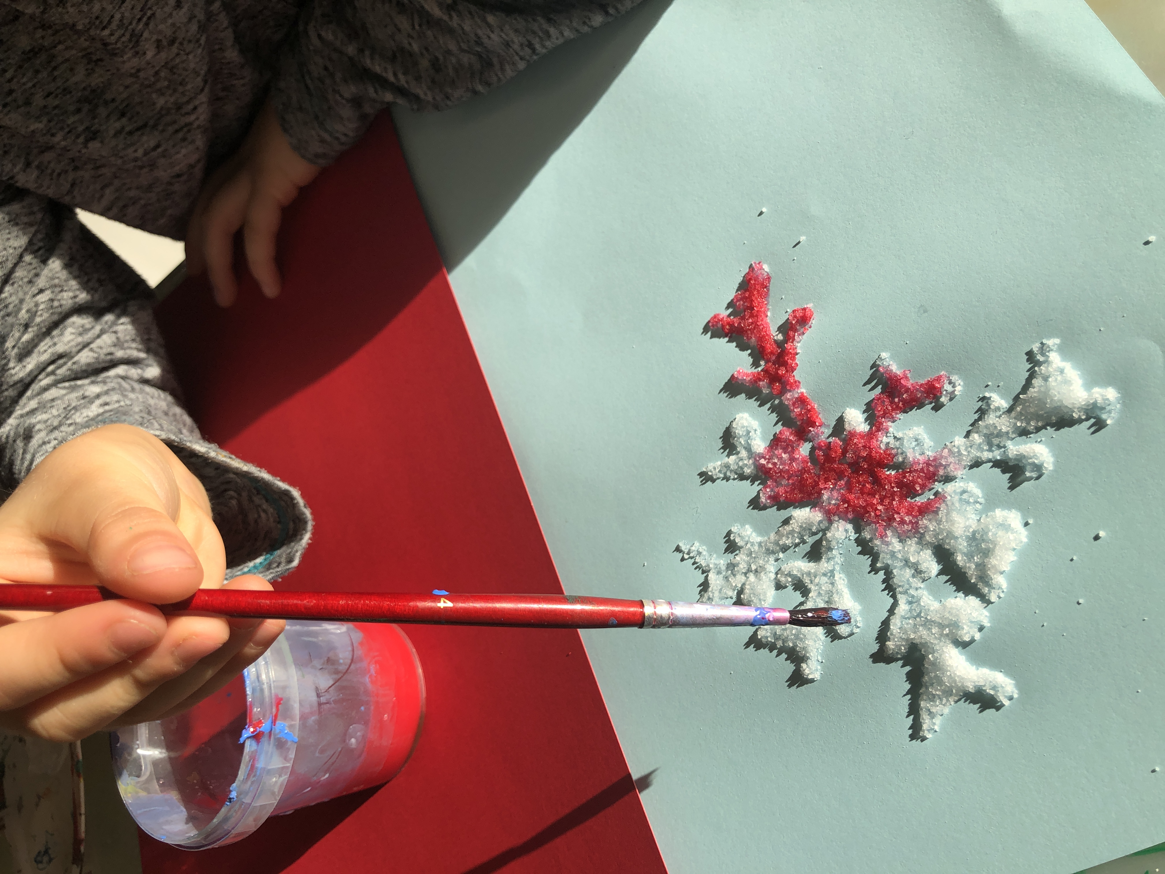 painting a salt snowflake
